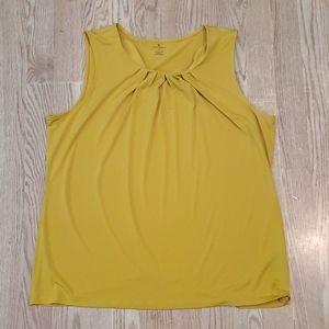 Worthington women's mustard yellow sleeveless XL